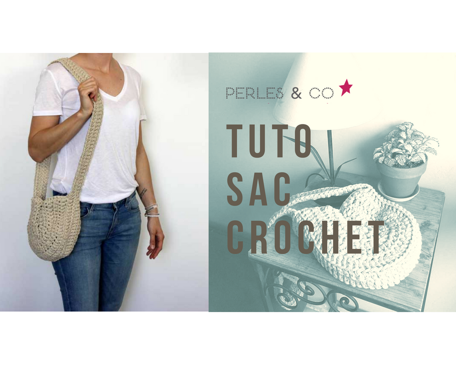 DIY runde gehäkelte Tasche mit Trapilho-Garn - Perles & Co