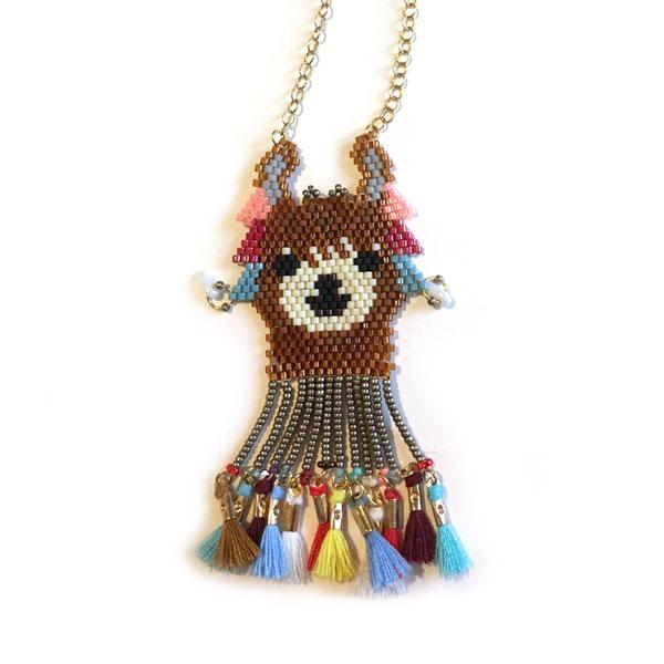 Halskette Muster Lama Brick Stich Weben mit Perlen Miyuki Delicas ...