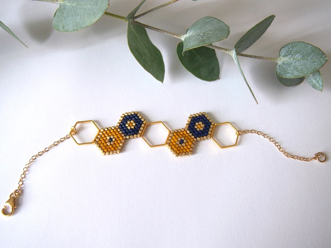 bracelet-intercalaire-hexagone-perles-miyuki-elements-gold-filled-VF2