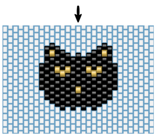 Weben Ziegel Stich Katze Kopf - Perles & Co
