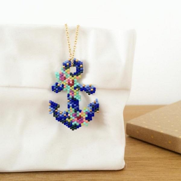 Anker Mit Miyuki Delicas Von Mon Petit Bazar Perles Co