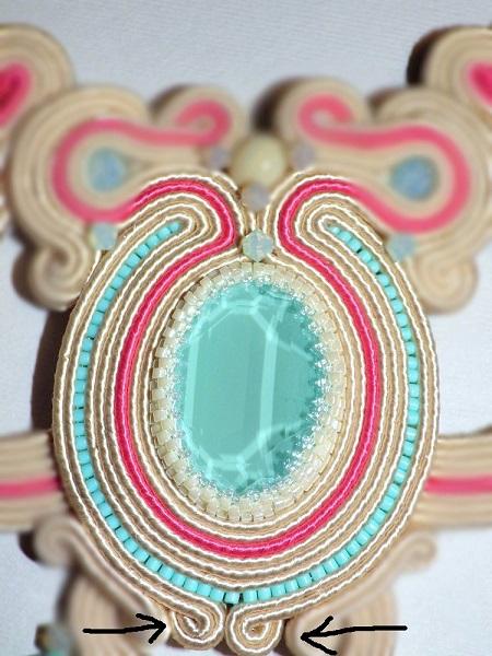 Finery in Geflecht und Swarovski-Kristallen - Perles & Co