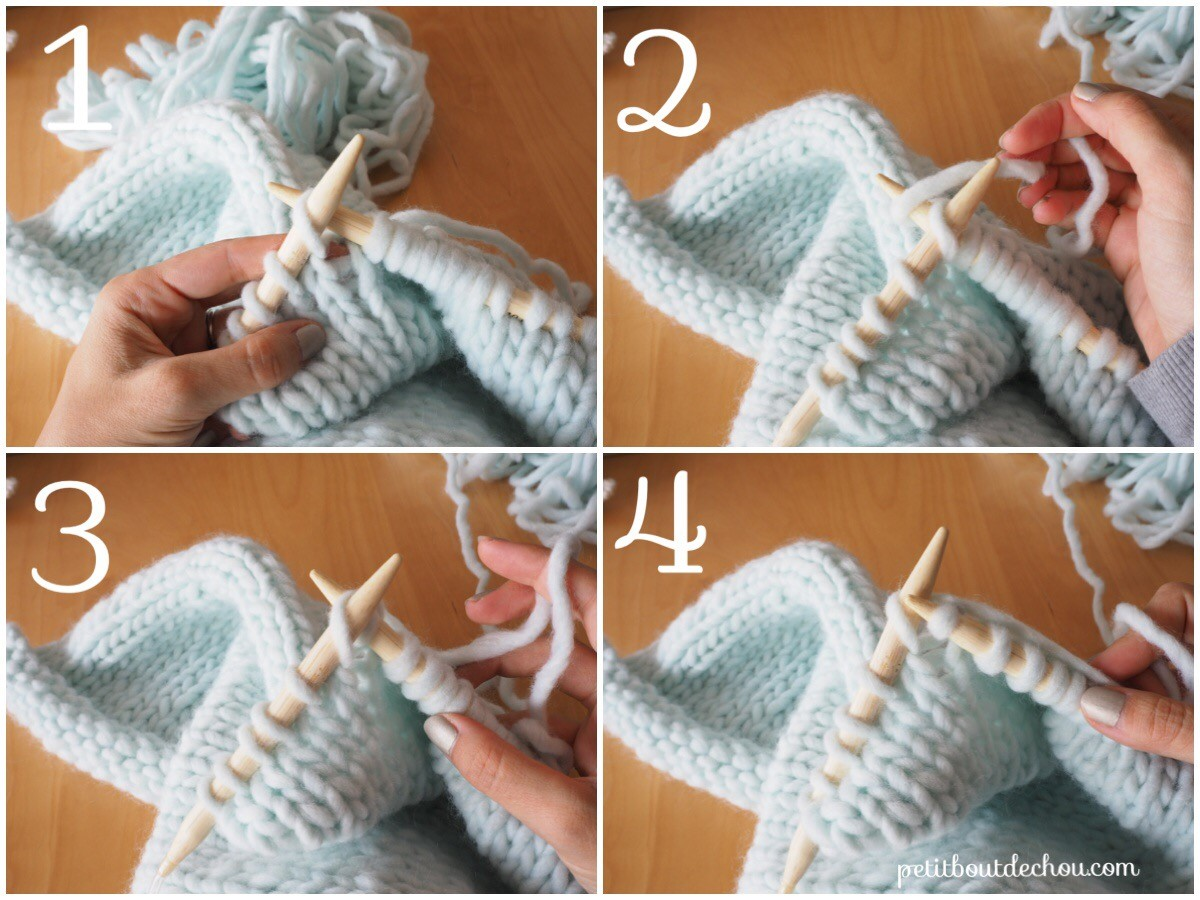 / Tutorial Kissen-mint-rose-Wolle-01