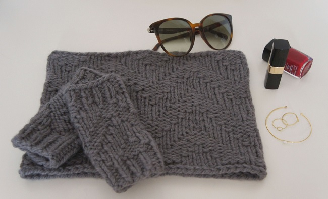 DIY Stricken - Snood Wolle Fonty - Perles & Co