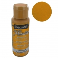 Undurschsichtige Acrylfarbe - DecoArt Dazzling Metallics - Glorious Gold x59 ml