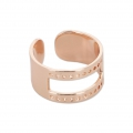 Ring eco aus Messing mit Rand 10mm Roségold x1