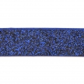 Zierband Lederimitat 10 mm Dark Blue Glitter x1.2m
