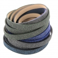 Zierband Lederimitat Flitter 10 mm Dark Blue Olive x1.2m