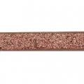 Zierband Lederimitat 5 mm Copper Brown Flitter x1.2m