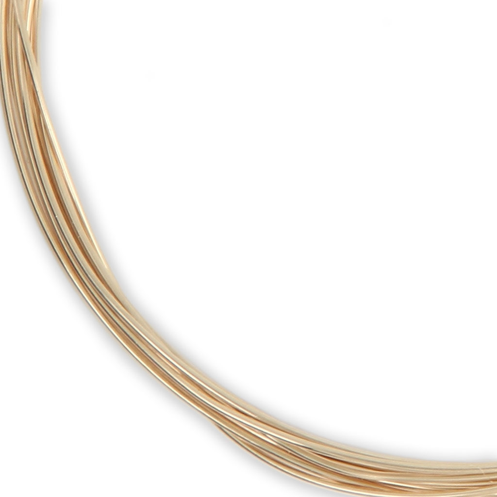 Vergoldeter Draht 12Karat 0.5mm weich x 1.5m - Perles & Co