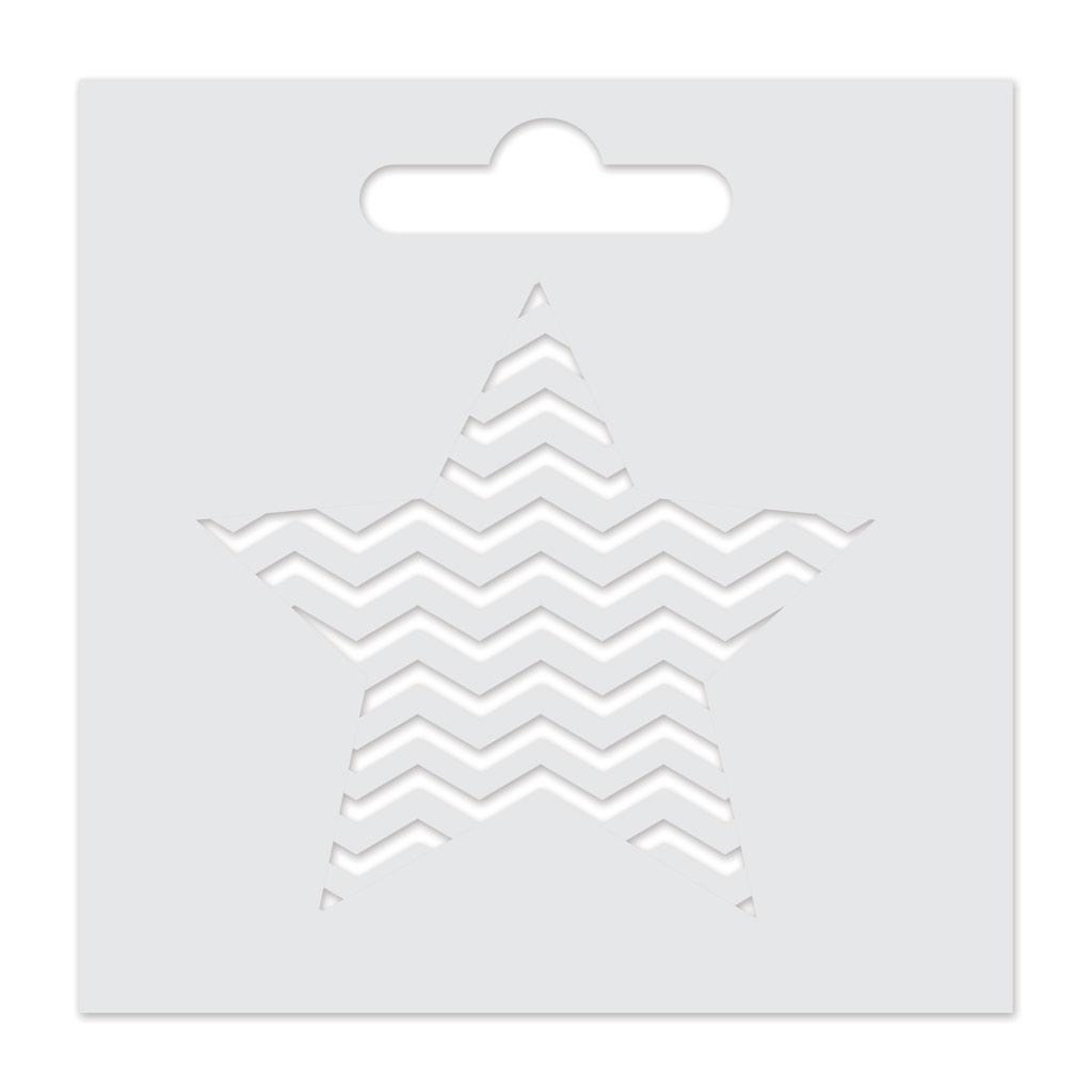 Aladine Schablone 8x8 cm für 3D Izink - Stern - Aladine - Perles & Co