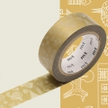 Masking Tape 15 mm - Weihnachten / line drawing x7m