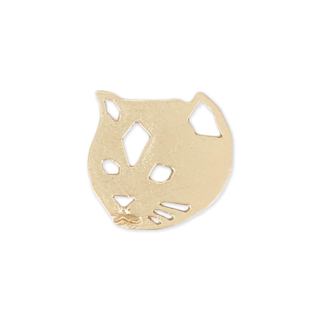 Katzenkopf 11x11 mm satin goldfarben x1 - Perles & Co