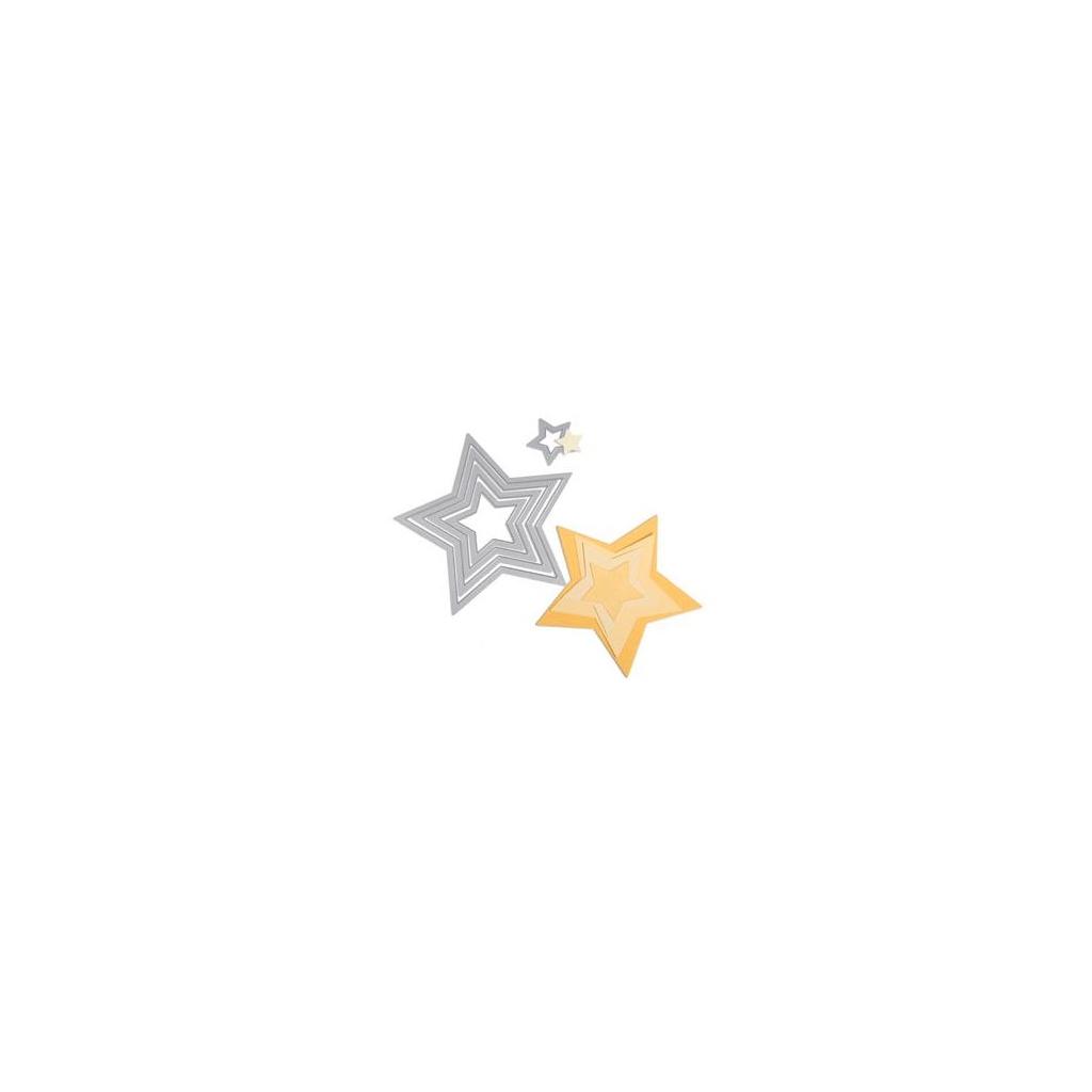 Schneidematriz Framelits für Sizzix - 5 Schablone Stern - Perles & Co