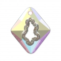 Swarovski Anhänger 6926 Growing Crystal Rhombus 36 mm Crystal AB