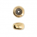 Metallperle stopper bead 5.9 mm mit 2 mm Loch goldfarben x1