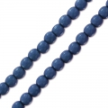 Rundperlen 2mm Pastel Montana Blue x150