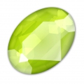 Cabochon Swarovski 4120 Oval 14x10mm Crystal Lime x1