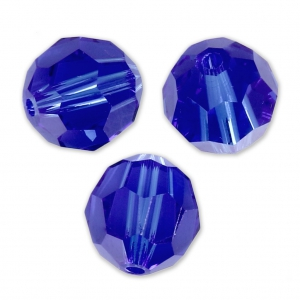 Swarovski 5000 Facettierte Rundperle 6mm Majestic Blue x6