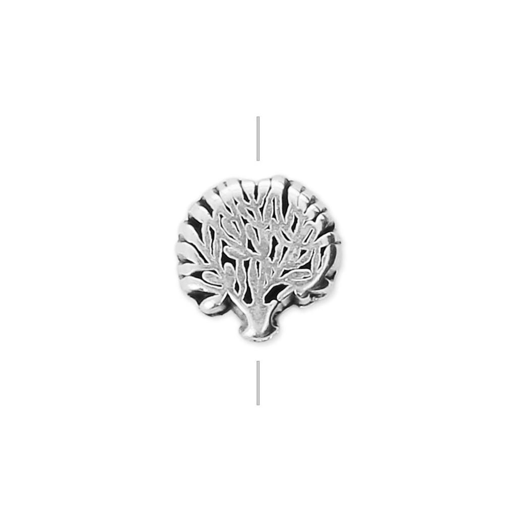 Baum Des Lebens Perle 8 Mm Antik Silberfarben X1 Perles Co