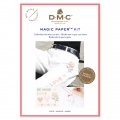 Kit DMC - Kreuzstich-Stickerei - Magic Paper - Liebe