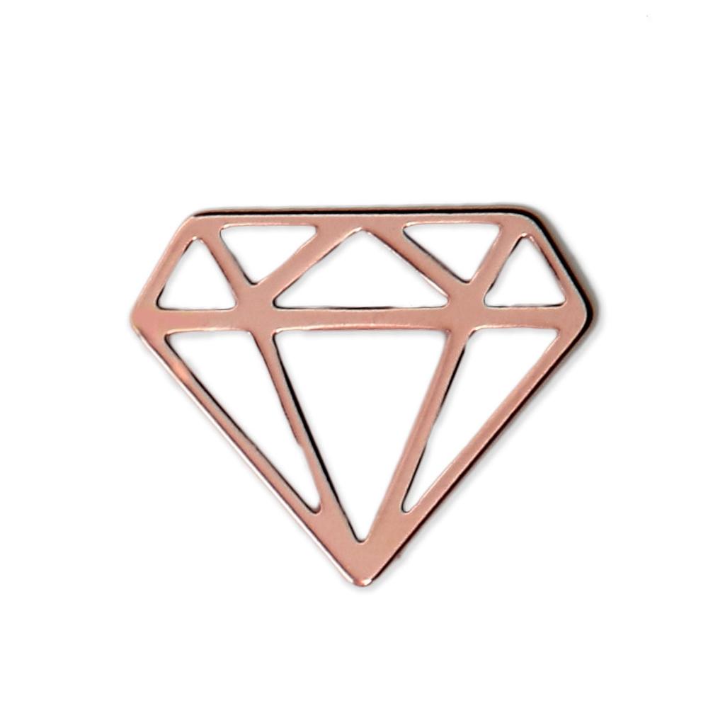 Zwischenteil Origami Diamant 155 Mm Aus Silber 925 X1 Perles Co