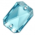 Cabochon Emerald Cut 3252 14X10 mm Aquamarine x1