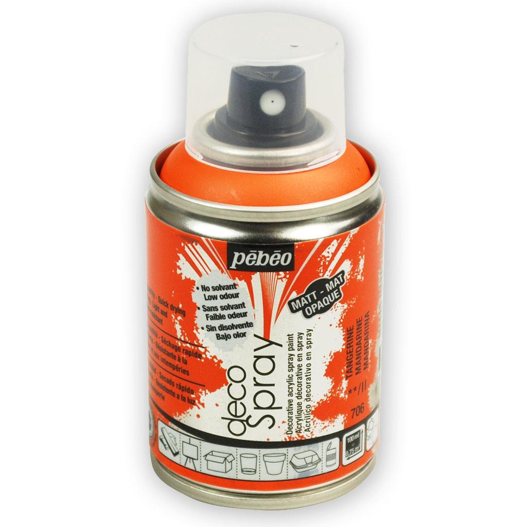 decospray - pébéo - sprühlack acrylfarbe - matt mandarine x 100 ml