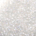 Mini Rocailles 11/0 - 2mm Crystal AB Silver Lined x10g