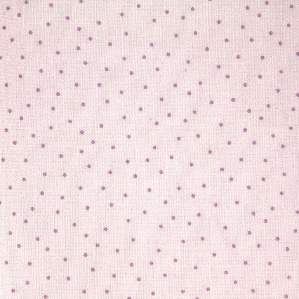 Baumwolle Stoff - Hygge - Metallisierte Punkte - Rosa x10cm - Rico ...