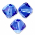 Swarovski Doppelkegel 6mm Majestic Blue AB x20