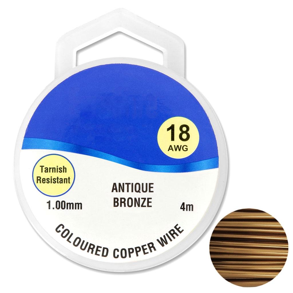 Kupferdraht 1 mm Antik Bronze x4m - Perles & Co