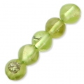Rundperlen 4 mm Gemstein Peridot x20