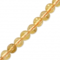 Rundperlen 2 mm Gemstein Citrine x38cm