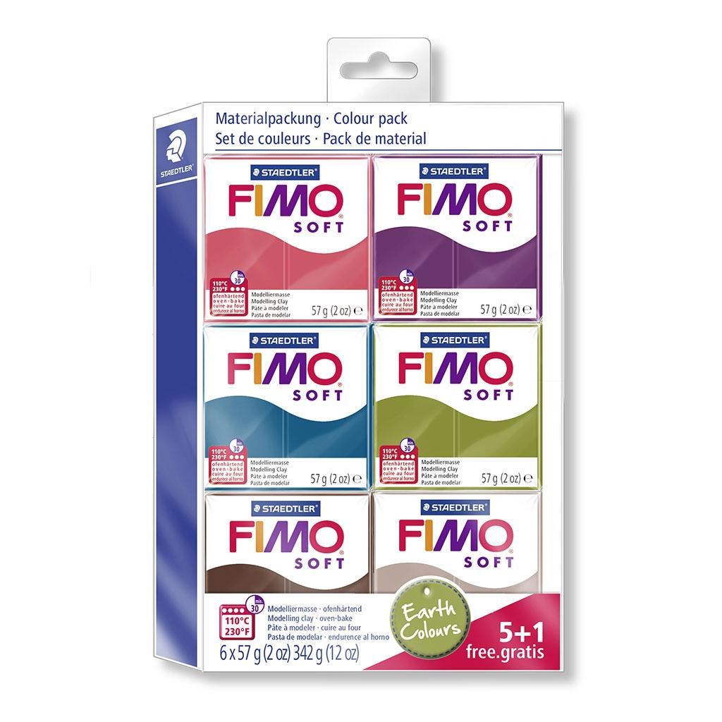 Sortiment Mit 6 Broten Von Fimo 57 Gr Natürliche Farben Perles Co