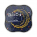 StazOn Midi Stempelkissen - quick dry ink pad - Midnight Blue x1
