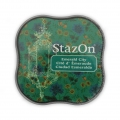 StazOn Midi Stempelkissen - quick dry ink pad - Emerald City x1