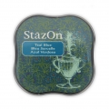 StazOn Midi Stempelkissen - quick dry ink pad - Teal Blue x1
