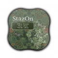 StazOn Midi Stempelkissen - quick dry ink pad - Olive Green x1