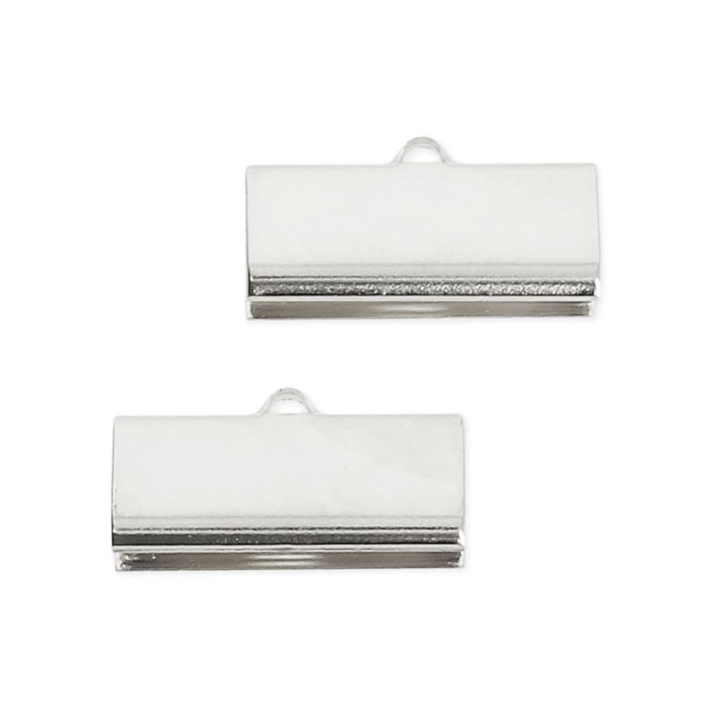 20 mm 20 Bandklemmen in silberfarben