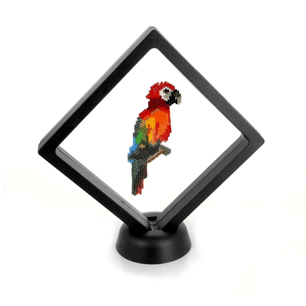Aufsteller Rahmen 3Dfür Miyuki Weberei 11x11 cm - schwarz - Perles & Co
