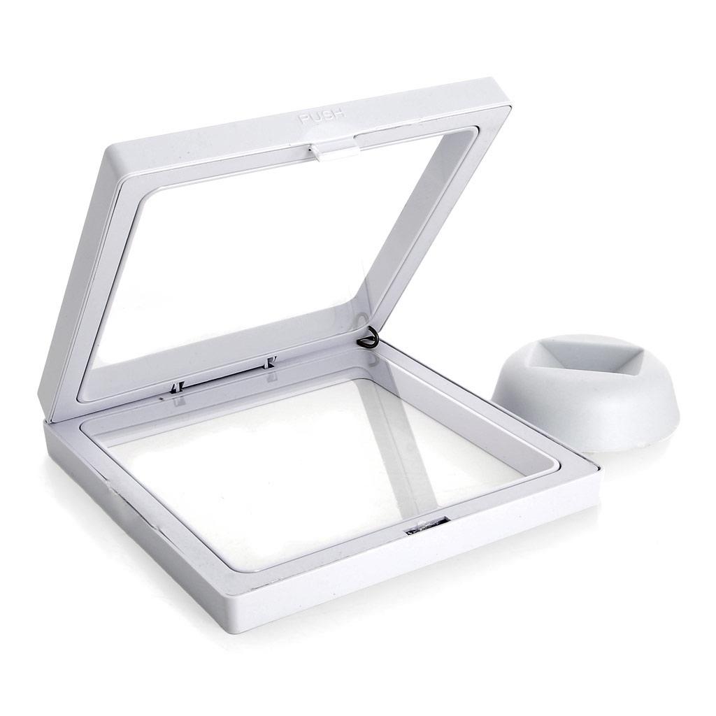 Aufsteller Rahmen 3Dfür Miyuki Weberei 11x11 cm - Weiß - Perles & Co