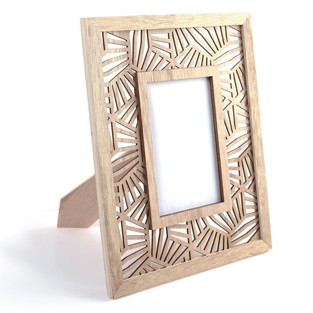 Photo Rahmen aus Holz 23.5 x 29 cm - Palmen Blätter - Graine Créa ...