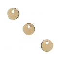 Runde Medaille 4 mm Gold filled 14 Karats x1