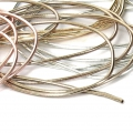 Glatte French Wire - Cannetille  1 mm silberfarben x5g