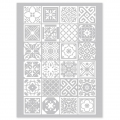 Silk Screen Graine Créative für Modelliermasse 114x153mm - Azulejos