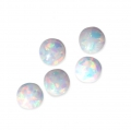 Synthetischer Runder Cabochon 4 mm Imitation Opal x1