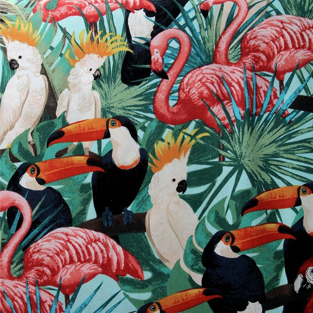 stoff Miami Tropic Timeless Treasures - Tropische Vögel x10cm - Ti ...