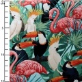 stoff Miami Tropic Timeless Treasures - Tropische Vögel x10cm