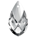 Birne Anhänger metallisierter oberer Teil 6565 18 mm Crystal Light Chrome x1